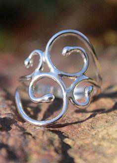 Sterling Silver Ring Swirly