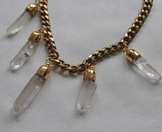 Free DIY project: Rough-Cut Crystal Necklace - Quartz crystal jewelry is so hot right now! Give your necklace designs natural glamor using rough-cut crystals as this DIY necklace project shows.