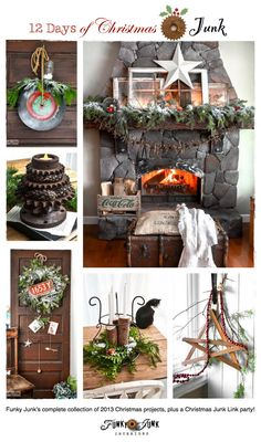 Funky Junk's complete collection of 12 Days of Christmas projects -  via http://www.funkyjunkinteriors.net/ #12days72ideas
