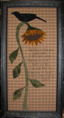 Sunflower Primitive Wall Hanging appliqu
