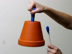pot bell made from used flower pot