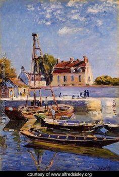 Alfred Sisley : Small Boats