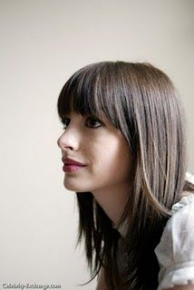 angles, weight loss, colors, long hair, ann hathaway, girl hairstyles, bangs, fring, anne hathaway