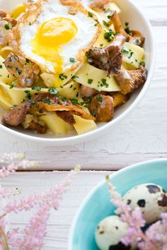 Pappardelle with Chanterelle Mushrooms and Egg