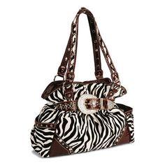 Savana Flocked Zebra Print Tote ($60) ❤ liked on Polyvore