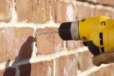 Drilling into mortar by Pine Hall Brick, via Flickr