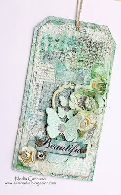 Nadia Cannizzo: 13arts April Challenge... A mixed media tag!