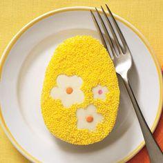 Lemon Easter Egg Cakes