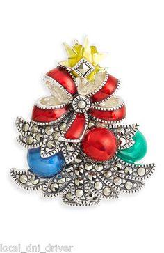 Judith Jack Christmas Tree Pin RARE Sterling Silver $175 | eBay