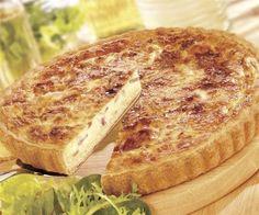 Quiche de bacon y queso