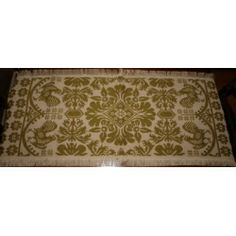 Colonial Primitive Rooster Runner 17 x 40 Mustard