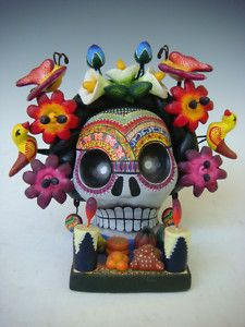 """Mexican Day of Dead Frida skull altar by CASTILLO on eBay. I have a """"thing"""" for Day of the Dead Skulls."""
