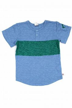 Appaman Blue & Green Henley Te