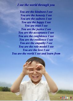 What you are to your child