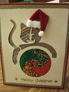 Iris folding Christmas cards