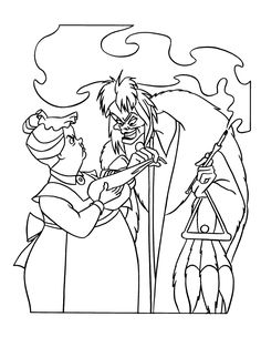 disney world villains coloring pages on disney
