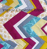 Improv chevrons quilt block tutorial