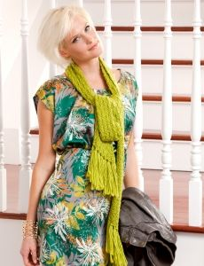 Biased Opinion -free knitting pattern from yarnspiratiions for a lightweight scarf perfect for summer
