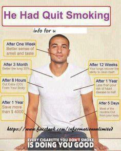 He quit smoking!