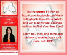 like us now https://www.facebook.com/ManifestingMyDestinywithLoriiAbela  Pin-IT to WIN-it!!! When you re-pin, please leave a quick comment here so I'll know who you are :)