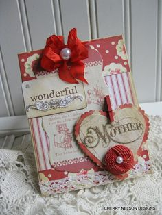 vintage style  MOTHER card