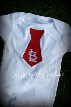 Cardinals Baseball MLB St Louis Tie Shirt  by JazzyGirlBoutique