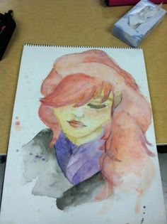 Watercolor Portrait - MORE ART, LESS CRAFT {good sample to show students}