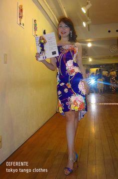 Japanese tanguera Mis.Maki with doll! She's actite in the model in team Bi-ma-jo.