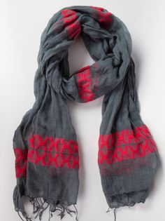 Seble scarf by fashionABLE. A touch of red to brighten up the winter! Buy this and help women get off the streets in Ethiopia.
