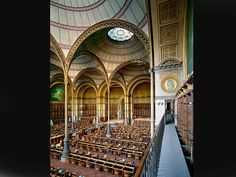 Bibliothèque nationale de France, site Richelieu, salle Labrouste, Paris, France, 2008