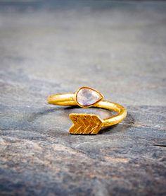 Arjuna Moonstone Vermeil Ring