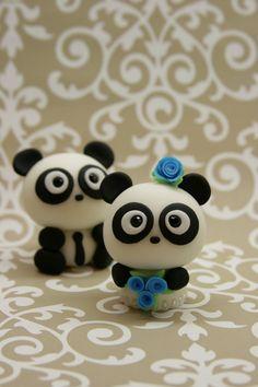 polimer clay pandas