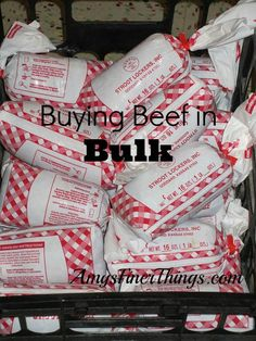 Buying Beef in Bulk ~ This is the best way I know how to get quality meat (in all cuts!) at a great price.