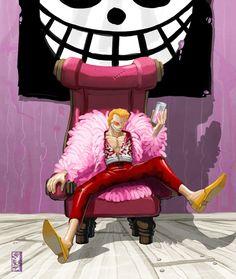 — -- Pink Doflamingo -- by wyv1