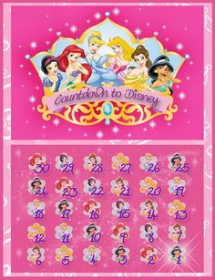 Princess theme countdown calendar