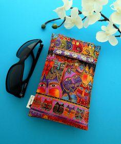Laurel Burch Design in a Roomy Sunglasses Case by geniecrafts, $10.00