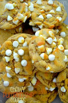 These Chewy Pumpkin Cookies are the BEST pumpkin cookies you'll ever eat! Chewy, soft and slightly crispy, they are far from cakey and a cinch to make!