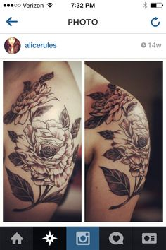 Some flowers last longer than paper flowers. Alice we love your peony tattoo.