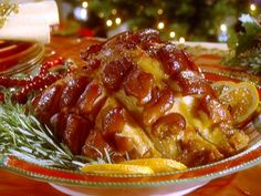 Ginger Glazed Ham - This nontraditional glazed ham uses ginger preserves and ginger ale to create the glaze.