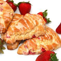 Orange Glazed Strawberry Scones