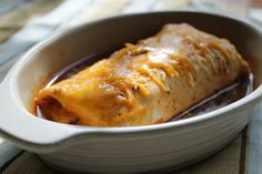 Smothered Chile Colorado Burritos ~ Crockpot