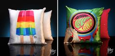 art on pillows