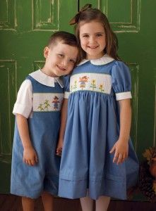Happy Scarecrows: Jack and Jill Straw Smocking Plates From Sew Beautiful #151 (August/September 201