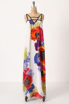 windblown anemone maxi dress