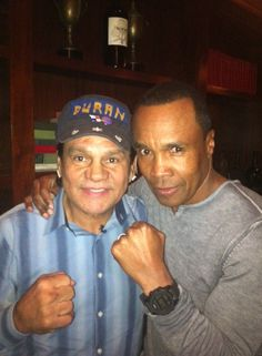 Roberto Duran and Sugar Ray Leonard