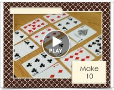 Make Ten is a great little game for sums of ten! All you need is a deck of cards, and it's even self-correcting, since using all of the number cards in the deck will evenly use them all as pairs totaling ten. From MyMommyReads