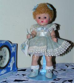 "VOGUE Strung 8"" HP Ginny Doll KINDERGARTEN SERIES ""APRIL"" #24 Sweet w/Tags #hardplasticstrungVogueGinnydollsleepeye"