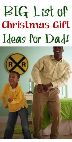 BIG List of Christmas Gift Ideas for Dad!