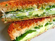 Avocado & Goat Cheese Grilled Cheese | Rachel Schultz
