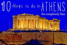 10 Things to do in Athens... for completely FREE! ~ A Passion and A Passport | A Travel and Adventure Blog